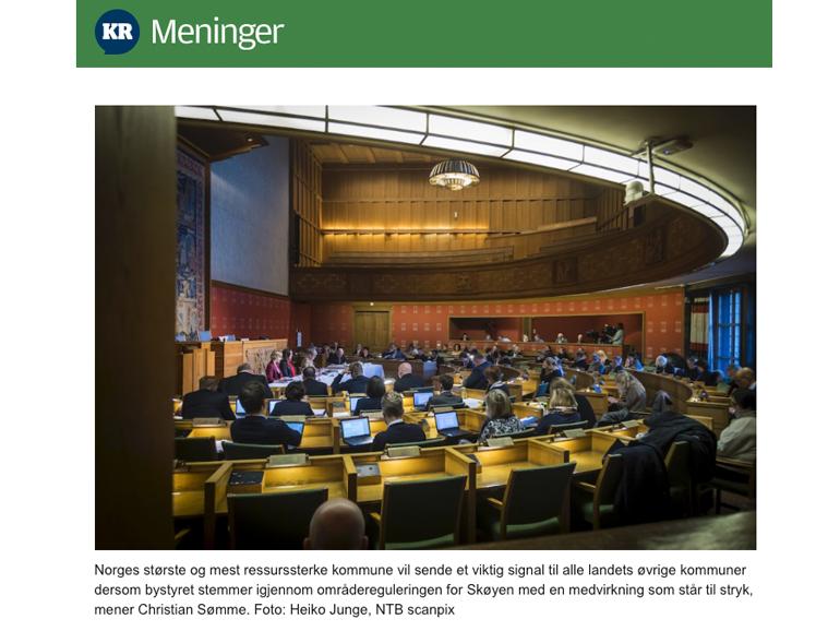 Vil Oslos bystyre nedstemme demokratiske prosesser i 2020?