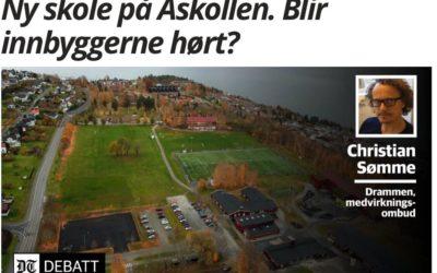 Medvirkning tas lett på ved ungdomsskolelokalisering til Åskollen Drammen