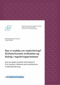 Lillin Knudtzon Knudson Knutson Phd Rapport Doktorgrad Medvirkning