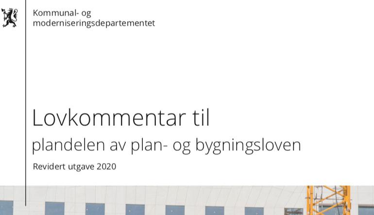 Lovkommentar plan- og bygningsloven plandelen